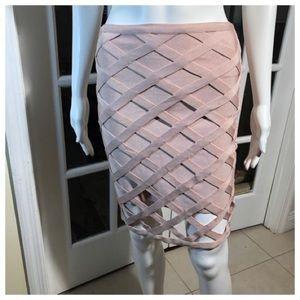 Bebe Rose Dust bandages skirt